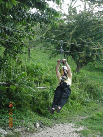 Joyce Ziplining in Jamaica!