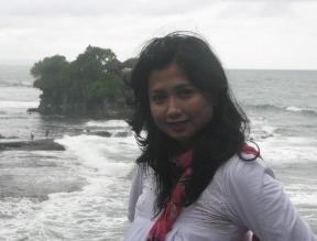 Woman in front of Ocean