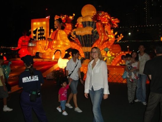Rebecca Huber in Hong Kong at the Lantern Festival