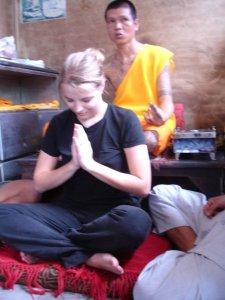 Rebecca Receiving Blessing Thailand
