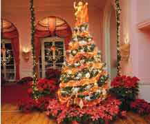 Christmas tree at the Greenbrier