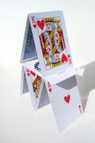 Want a real challenge? Build a house of cards during turbulence.