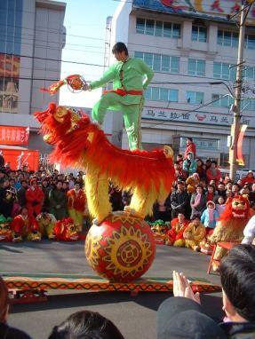 Chinese New Year Balancing Dragon