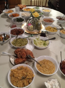 Mrs. Wilkes dinner spread